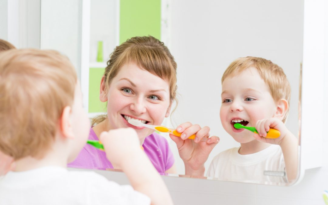 Children Brushing for Fun; Healthy Habits that Last a Lifetime